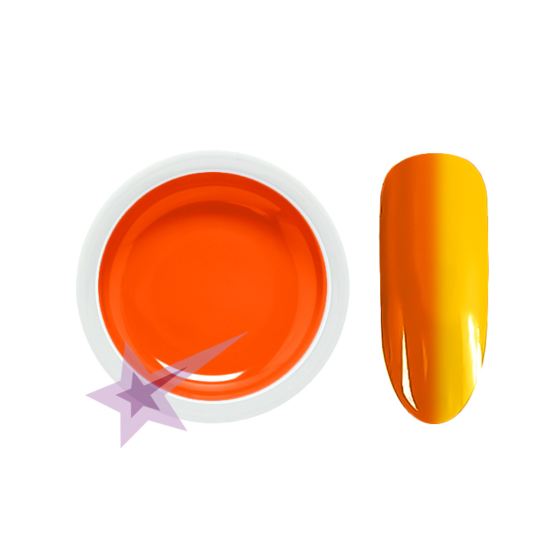 UV gel thermo orange - yellow (2201), 5ml. Chameleon UV gel AKCE!
