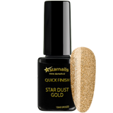 UV/LED Quick Finish Stardust Gold, 10ml - bezvýpotkový zlatý lesk