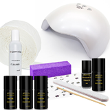 Gel lak sada One Step WELLNESS SET 4 s  UV/LED lampou 48W