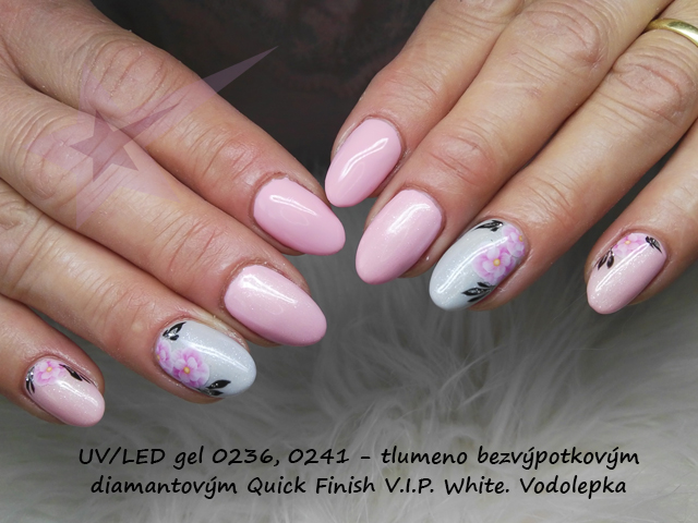 UV/LED Quick Finish V.I.P. White 5ml - bezvýpotkový třpytivý mléčný lesk pro gel, gel lak