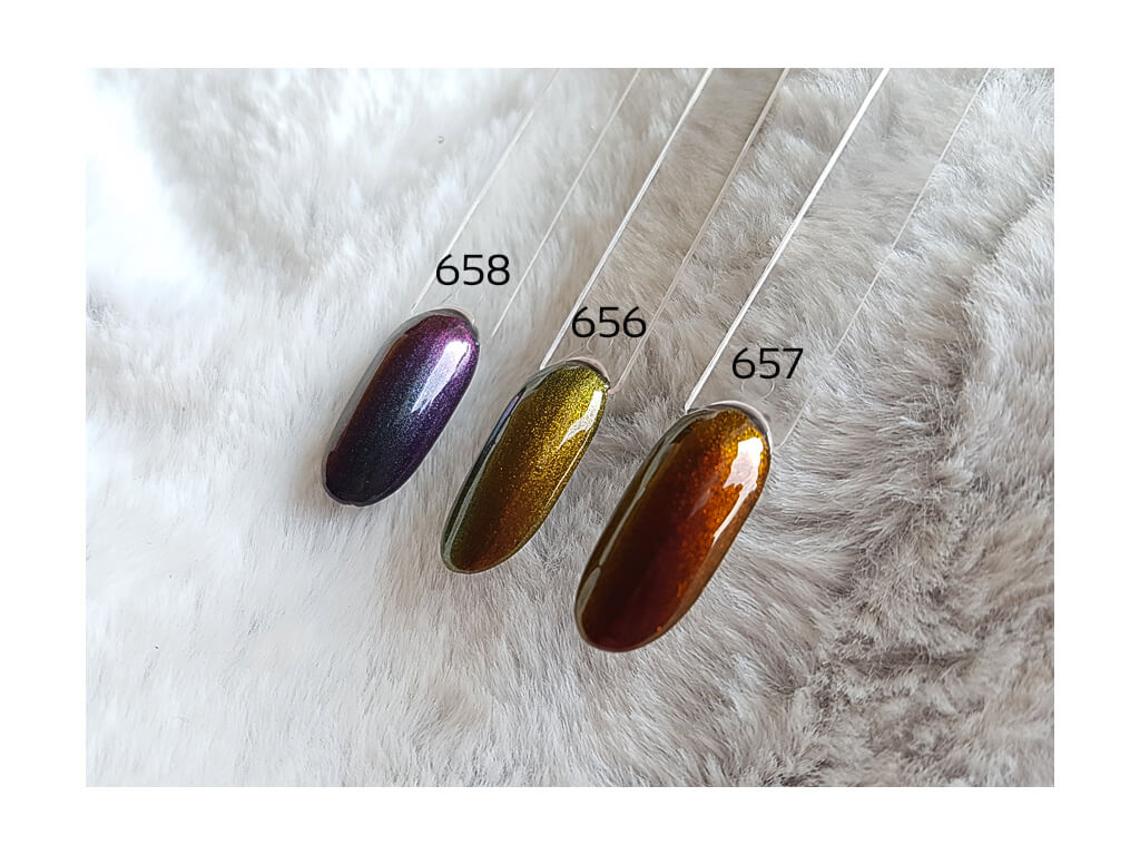 Gel lak 5D Cat Eye Elite Line 657, 6g - chameleon efekt