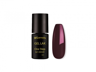 Gel lak 4v1 One Step 432, 5ml - fialová bordó
