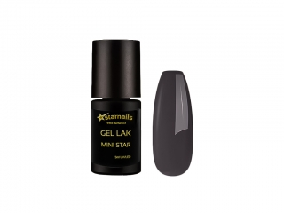 Gel lak Mini Star 101, 5ml - ocelově šedý
