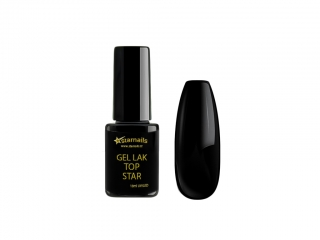 Gel lak Top Star TS338, 10ml - černý gellak