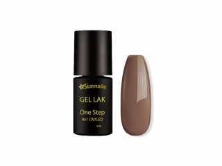 Gel lak 4v1 One Step 412, 5ml - kapučíno