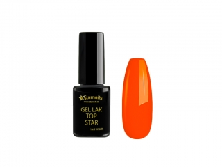 Gel lak Top Star TS353, 10ml - neonový mandarinkový gellak