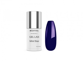 Gel lak Mini Star 02, 5ml - neonový modrý