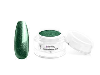 Master Gel 1717 emerald glitter, 6g UV/LED
